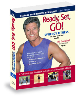Click here for ordering info for this health and fitness book; Ready Set Go Synergy Fitness. The book that covers hot new topics concerning fitness, exercise, workout plans, fitness plans, exercise programs and shows you how to improve fitness with Sprint Cardio, stretching, and strength training
