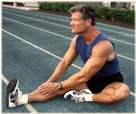 REMEMBER: Always move in slow-motion when stretching to avoid injury.